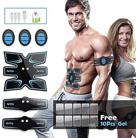 OSITO EMS Appareil de Stimulation Musculaire /électrostimulation USB Musculaire Musculaire /électrique pour Homme Femme Gel 10 comprim/és