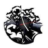 Superhero vinyl record wall clock, nice home decor, best gift idea