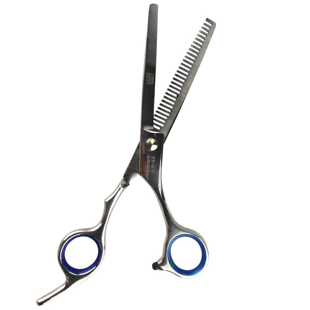 EYX Formula Stainless steel Hair Cutting Scsisor for Professional Hairdresser; Hair Shears for Hair Trimmer At Home (Blue Thinning Scissors)