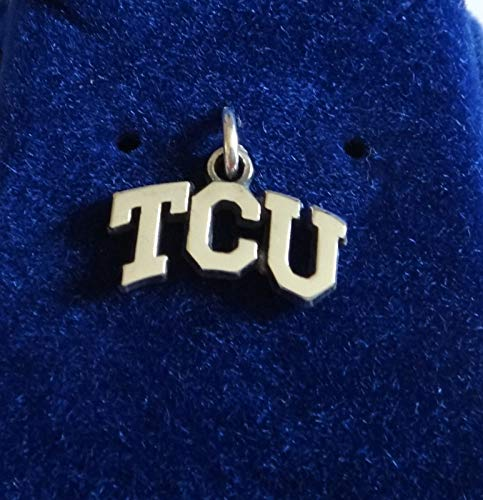 (Sterling Silver 12x17mm TCU Texas Christian University Horned Frogs Toads Charm Jewelry Making Supply, Pendant, Sterling Charm, Bracelet, Beads, DIY Crafting and Other by Wholesale Charms)