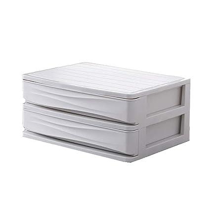 Organizador de Escritorio, 2-Capas Cajón Durable Plástico Mesa de ...