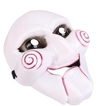 WHFDRHWSJMJ Mascara Halloween Terror de LED Cosplay Máscara de Halloween Broma práctica Gadget Disfraz de Halloween