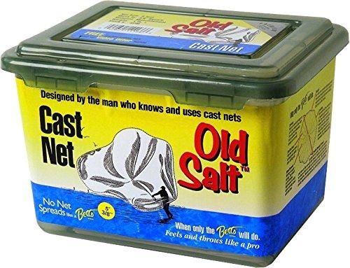 (Betts 7SM Old Salt Mono Cast Net, 7-Foot Length, 1/2-Inch Mesh, Clear Finish )