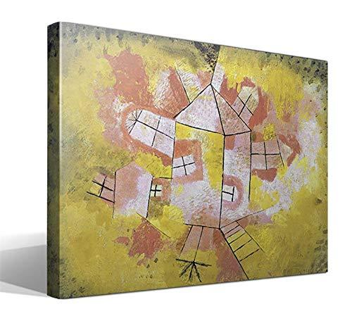 cuadrosfamosos es Cuadro Canvas Casa giratoria de Paul Klee