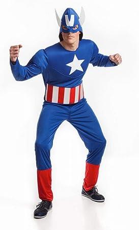 DISFRAZ DE HEROE AMERICANO. Talla 52 de Hombre. Incluye Mono y ...