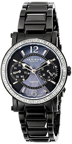 Akribos XXIV Women's AKR472BK Lady Diamond Collection Dia...