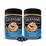 Legendary Foods Blueberry Cinnamon Bun Flavored Almond Nut Butter (2-16 oz Jars) – Low Carb, High Protein – Paleo, Vegan, Keto-Friendly Snack – Diet Approved