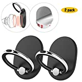 Cell Phone Ring Holder Stand for Hand, 2 Packs AOPETIO 360°Rotation Magnetic Kickstand for Car Mount Hand Grip Finger Ring Anti-slip Universal for Smartphones iPads and More