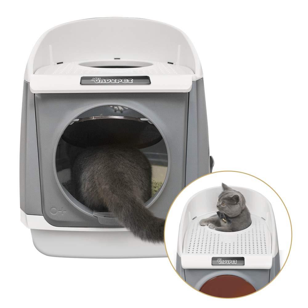 DADYPET Arenero Gatos, Arenero Cubierto para Gatos 55 * 46 * 49cm: Amazon.es: Productos para mascotas