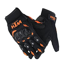 AllExtreme EXKLGO1 Rider Safety Motosports Polyester Motocross Hard Knuckles Riding Gloves with Microfiber Cleaning…