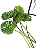 6 Pcs Artificial Tropical Monstera Palm Tree Leaves for Home Decorations 24.5 inch