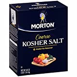 Morton Coarse Kosher Salt, 3 lbs. (pack of 6)