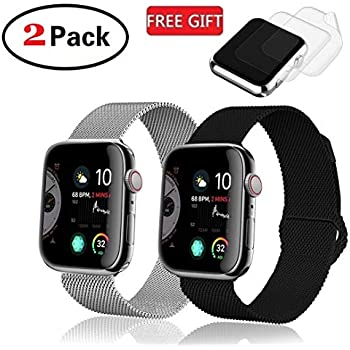 Amazon.com: Milanese Stainless Steel Wristband Fit for Apple ...