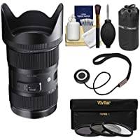 Sigma 18-35mm f/1.8 Art DC HSM Zoom Lens for Nikon DSLR Cameras with Pouch + 3 UV/CPL/ND8 Filters + Kit