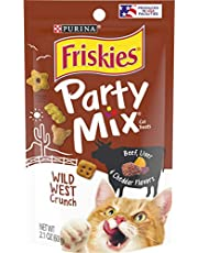 Purina Friskies Party Mix Adult Cat Treats -2.1 oz. Pouches (Pack of 10)