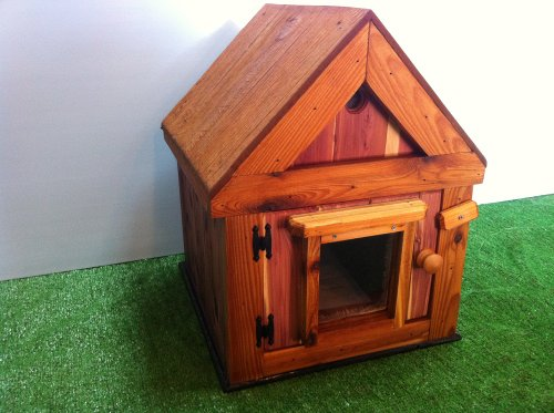 insulated cedar cat house - 5