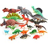 Dinosaurs Toys for Kids - Realistic Looking Dinosaur Figures 3'' to 7'' Pack 20 Playset Plastic Assorted Educational Dinosaur Toys for Boys Girls Toddlers, 3 Years and Up Fun Gift Party Giveaway