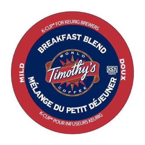 Breakfast Blend Coffee K-Cups, - Breakfast Timothys Blend Coffee