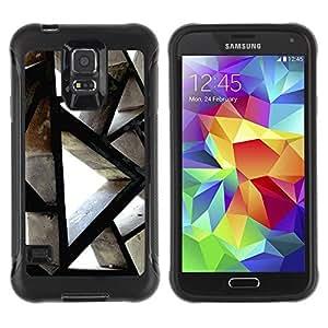 Paccase / Suave TPU GEL Caso Carcasa de Protección Funda para - Building Architecture Polygon Engineering - Samsung Galaxy S5 SM-G900