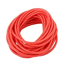 uxcell® 5M 24AWG 20KV Electric Copper Core Flexible Silicone Wire Cable Red for RC