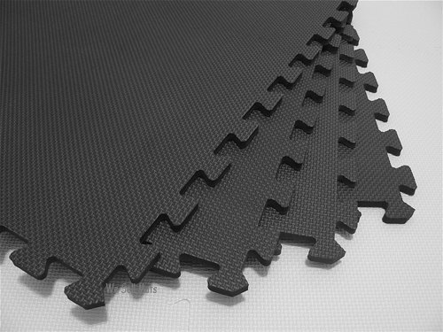 192 Square Feet ( 48 tiles + borders) 'We Sell Mats' Charcoal Gray 2' x 2' x 3/8'' Anti-Fatigue Interlocking EVA Foam Exercise Gym Flooring by We Sell Mats