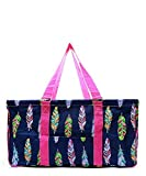 N. Gil All Purpose Open Top 23'' Classic Extra Large Utility Tote Bag 2 (Feather Hot Pink)