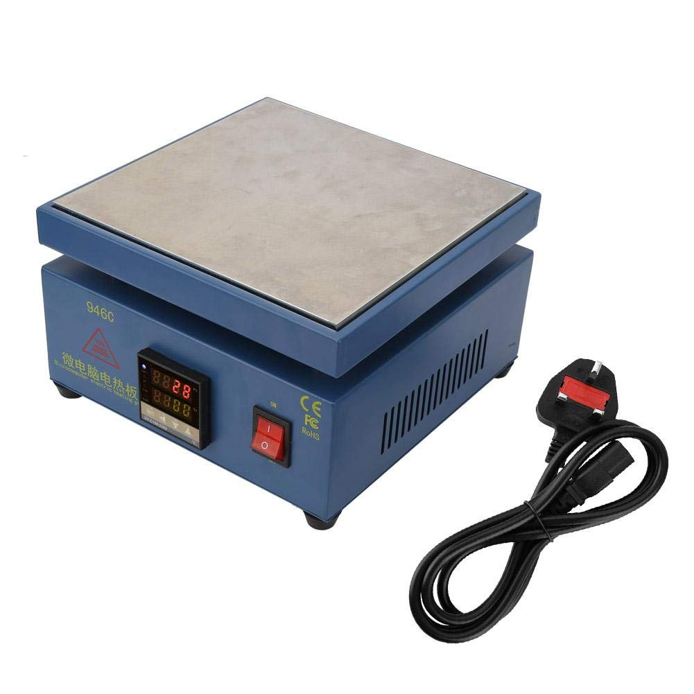 Led Display SMD Reengineering Work Component Work UK Plug 220V Repair Cell Phone Screen 110V//220V Digital LCD Electronic Hot Plate Preheating Station for Divide