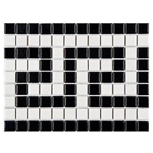SomerTile FXLMMGKB Retro Greek Key Porcelain Mosaic, 8