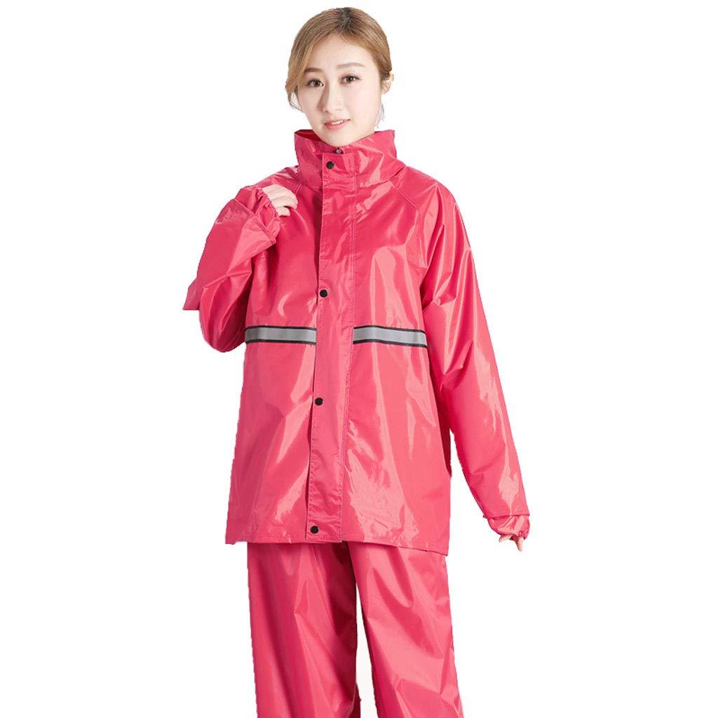 rouge 2XL VêteHommests de pluie, vêteHommests de sport Imperméable pour hommes et femmes Split VêteHommests de pluie Manteau imperméable Veste pour adultes avec un pantalon de costume pour vêteHommests de pluie moto