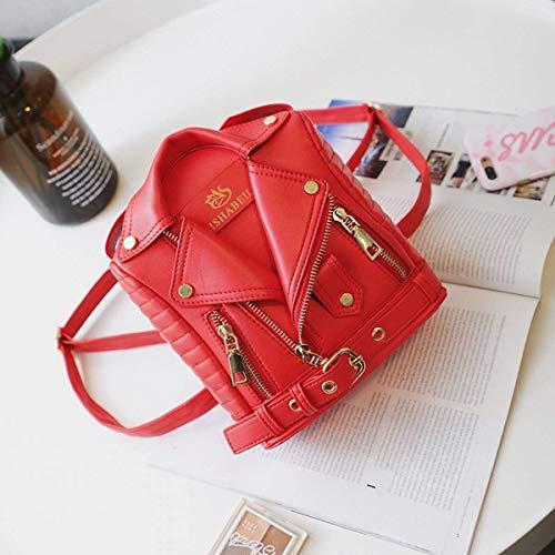 Con Trasero Bolso Traje color Pequeño Remache Eeayyygch De Tamaño Rojo Mujer Hombro Para Rojo Doble Z8wawA