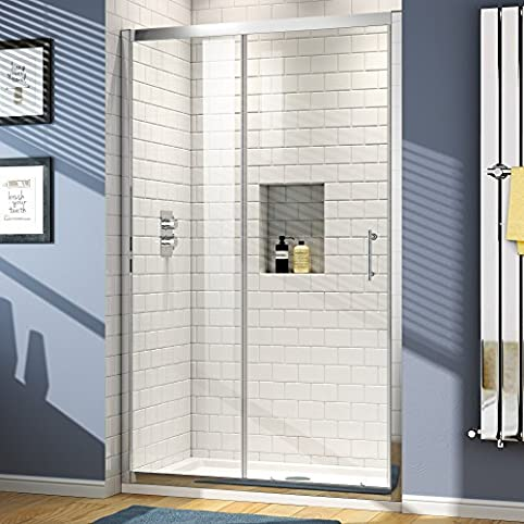 1000 Mm Sliding Glass Cubicle Door Modern Bathroom Alcove Shower Enclosure  By IBathUK