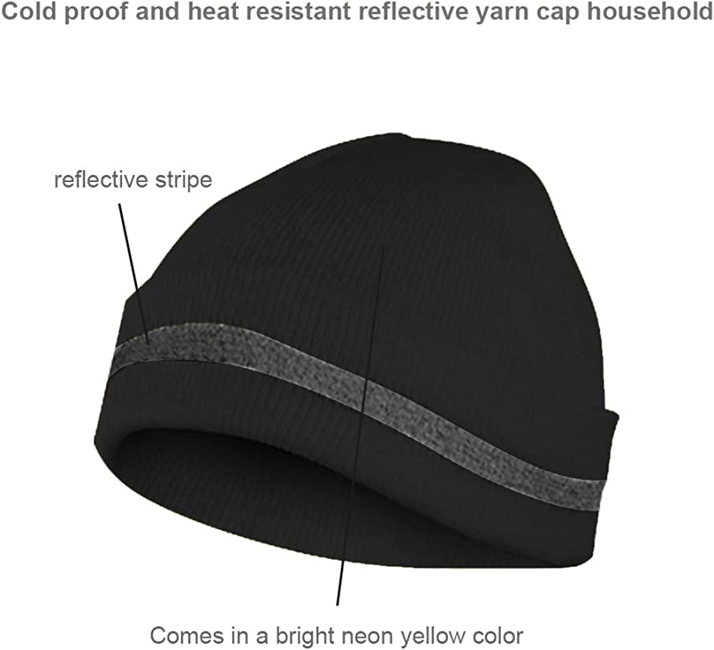 XIAKE High Visibility Reflective Knit Cap,Winter Daily Beanie,Cold-Proof and Warm,for Outdoor Working and Sports