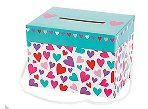 Design Box Heart (Valentine's Day Card Boxes - 1 Dozen, Heart Designs, Girl's)