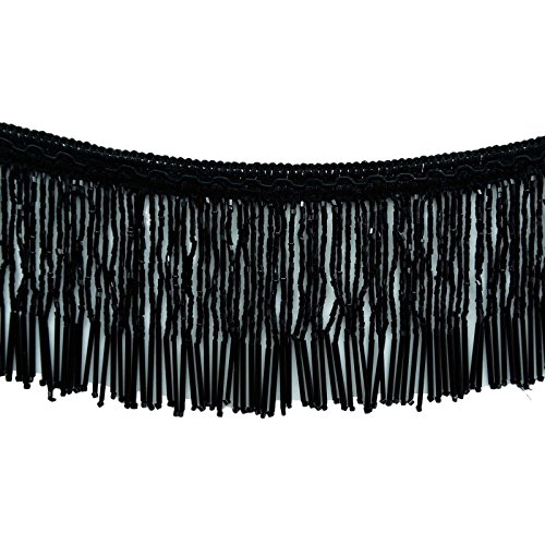 Beaded Fringe Ribbon Black Upholstery Decorative Curtain Supplies Craft By The (Decorative Beaded Trim)