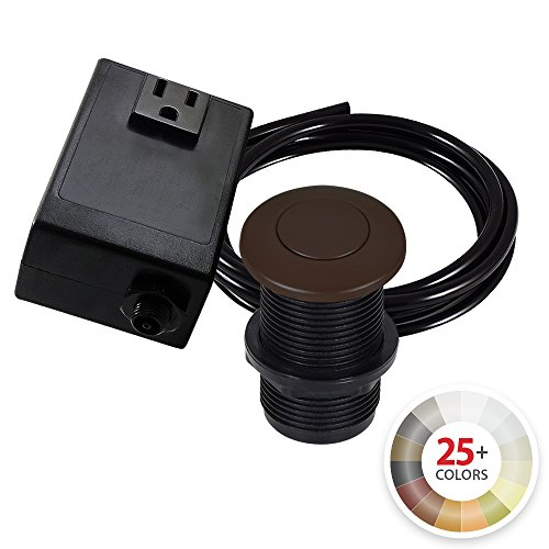 (Single Outlet Garbage Disposal Turn On/Off Sink Top Air Switch Kit in Weathered Copper. Compatible with any Garbage Disposal Unit and Available in 25+ Finishes by NORTHSTAR DÉCOR. Model # AS010-WC)