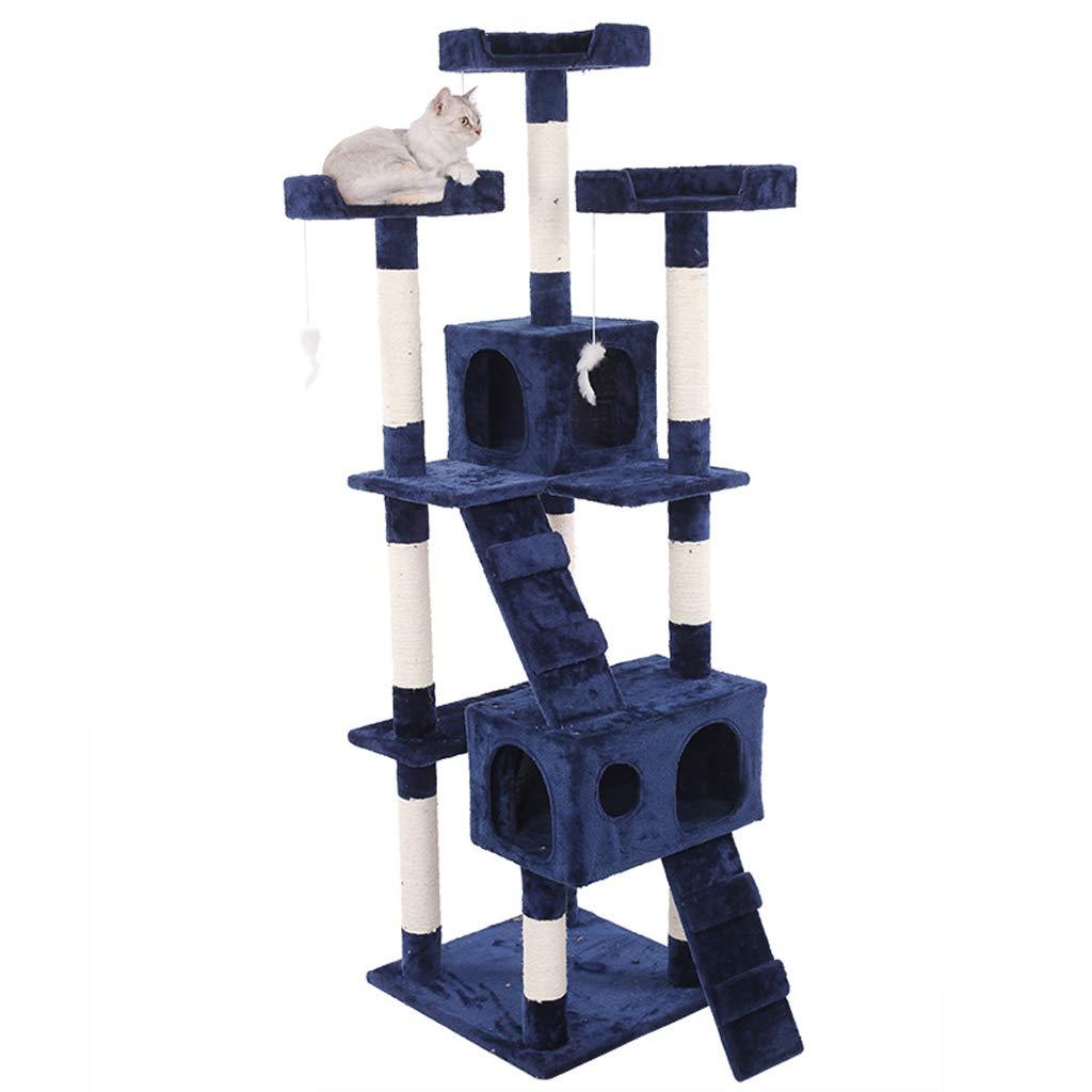 Cat Climbing Frame, Cat Toy Pet Nest Solid Wood Sisal Rope Luxury Big Small Cat Tree Scrat ng Cat Litter Villa