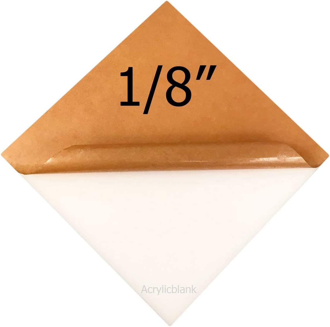 , 3//16 Thick White 11 x 11 5 Pieces Click for More Sizes and Customization Acrylicblank White Acrylic Sheet Laser Cut Sign Blank