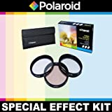 Polaroid Optics 3 Piece Special Effect Lens Filter Kit (Soft Focus, Revolving 4 Point Star, Warming) For The Sony Alpha NEX-C3, NEX-7, NEX-6, NEX-5N, NEX-5R, NEX-5, NEX-3, NEX-3N, NEX-F3, NEX-5T, A3000, A5000, A6000, A7, A7R Digital SLR Cameras Which Have The Sony E Series (18-200mm) Lens