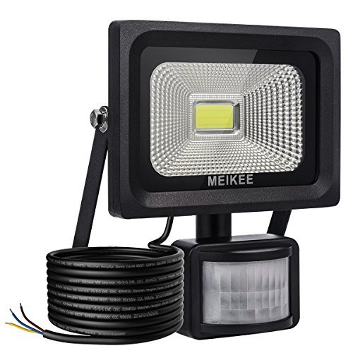 Meikee security lights with motion sensor 10w waterproof ip66 led meikee security lights with motion sensor 10w waterproof ip66 led sensor outdoor light high mozeypictures Gallery