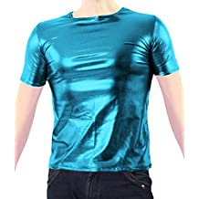 VSVO Adult Metallic Wet Look T-Shirts