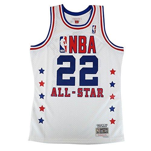 Mitchell & Ness Clyde Drexler 1989 NBA All Star West Swingman White Jersey (Clyde Drexler Nba)