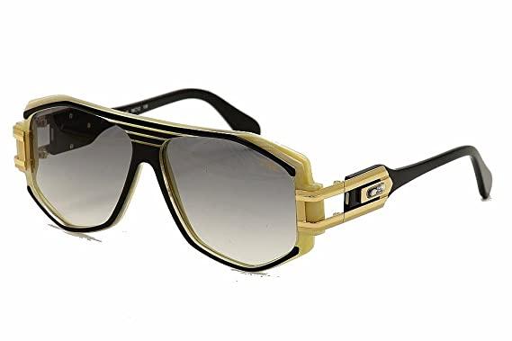 27612a55d12a Amazon.com  Cazal 163 095 Black Gold Ivory Grey Gradient Sunglasses ...
