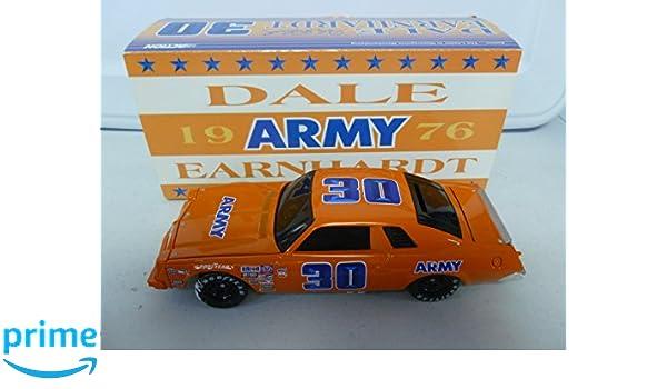 Amazon.com: Action 1976 Dale Earnhardt Chevy Malibu #30 Army Black Window Bank 1:24: Toys & Games