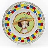 Enamelware - Puppy Pattern - Kids 3 Piece Giftboxed with 4 Ounce Mug, 14 Ounce Bowl and 8½ Inch Plate