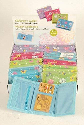 4 x Geldbörse Geldbeutel Portemonnaie für Kinder in gemischten Farben