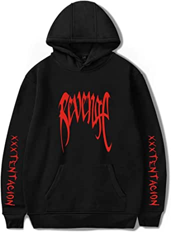 Flyself Unisex Xxxtentacion Hoodies with Cool Skull Graphic Printed Hooded Sweatshirt Pullover Jumper with Pocket