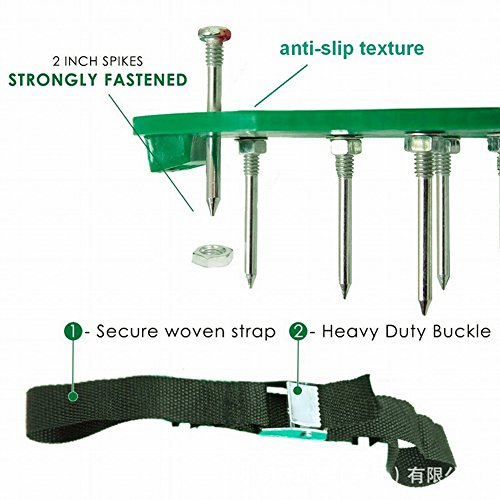Alotm Lawn Aerator Shoes with Adjustable Zinc Alloy Buckles and 3 Straps, Heavy Duty Spiked Sandals Shoes Garden Tool for Aerating Your Lawn or Yard - One Size Fits All Men and Women by Alotm (Image #2)