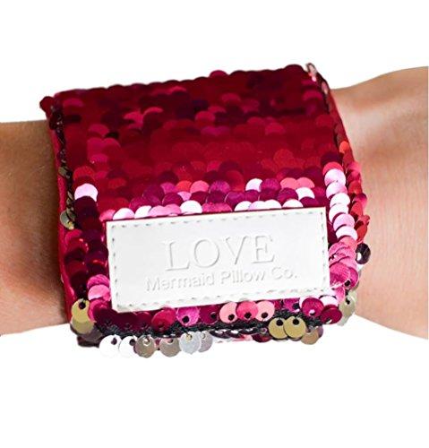 Costume Mermaid Sequin Pink (Mermaid Bracelet w/ Reversible Sequins & Velvet Lining (Pink &)