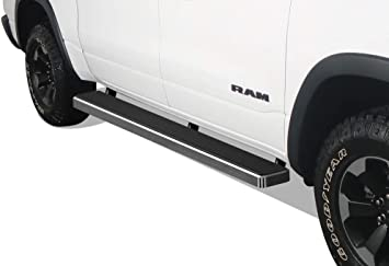 APS iBoard Running Boards 6 inches Custom Fit 2019-2020 Dodge Ram 1500 Quad Cab Pickup 4-Door for New Body Style Only Will Not Fit 2018 Model Nerf Bars Side Steps Side Bars