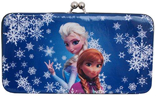 Concept One Handbags Frozen Sublimation Print Snowflake Kiss Lock Wallet, White, One Size (Snow White Handbag)
